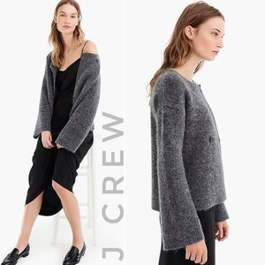 J CREW COLLECTION wool cardigan coat
